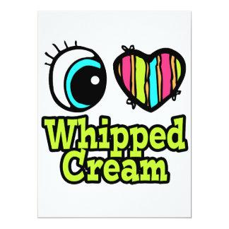 "Bright Eye Heart I Love Whipped Cream 6.5"" X 8.75"" Invitation Card"