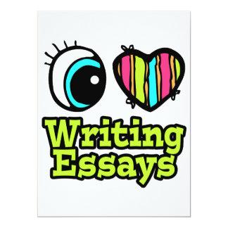 Bright Eye Heart I Love Writing Essays 6.5x8.75 Paper Invitation Card