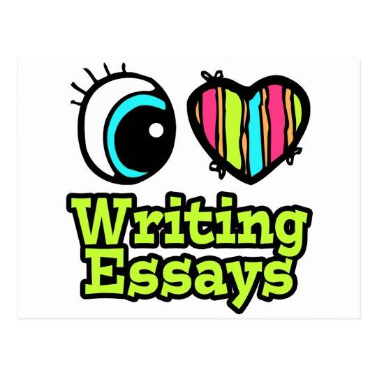 Bright Eye Heart I Love Writing Essays Postcard