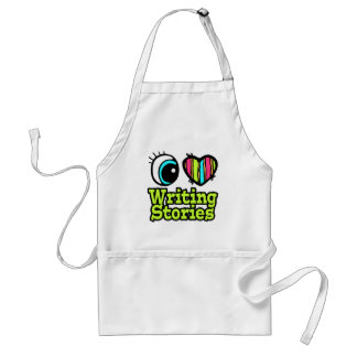Bright Eye Heart I Love Writing Stories Adult Apron