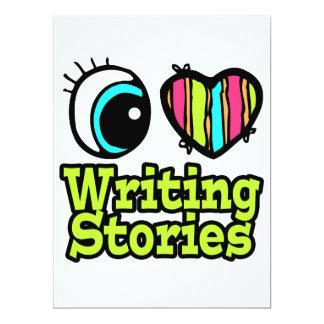Bright Eye Heart I Love Writing Stories 6.5x8.75 Paper Invitation Card