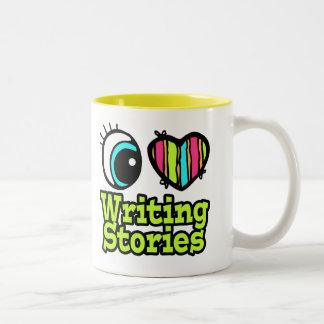 Bright Eye Heart I Love Writing Stories Two-Tone Coffee Mug