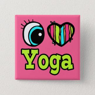 Bright Eye Heart I Love Yoga Button