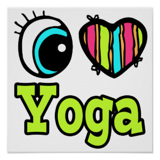 Bright Eye Heart I Love Yoga Poster