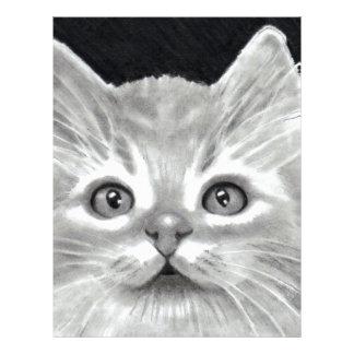 BRIGHT-EYED CAT IN PENCIL: ART FLYER
