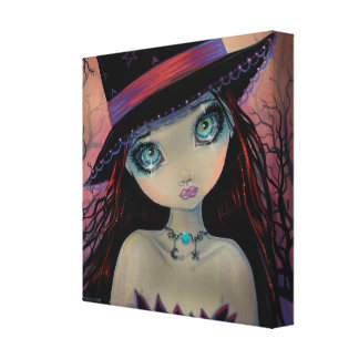 Bright Eyed Witch Canvas Print
