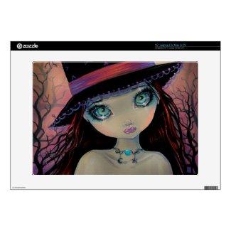 Bright Eyed Witch Cute Big-Eye Laptop Skin musicskins_skin