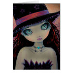 Bright Eyed Witch Greeting Card