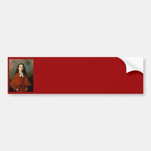 Bright Eyes by Sir John Everett  Millais Bumper Sticker