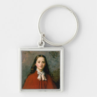 Bright Eyes by Sir John Everett  Millais Keychain