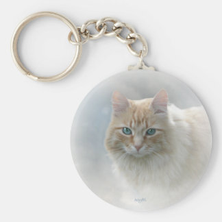 Bright Eyes Cat keychain...© Angel Honey, 2010 Keychain