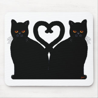 Bright Eyes Heart Mouse Pad