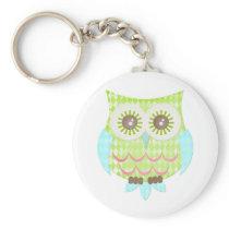 Bright Eyes Owl Keychain