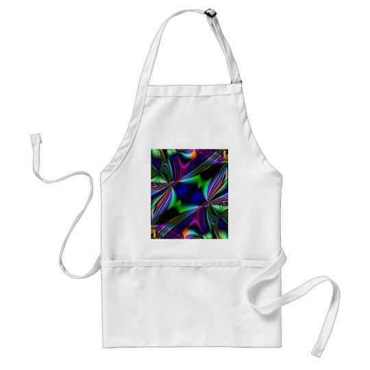 Bright Fabulous Fractal Kaleidoscope design Adult Apron