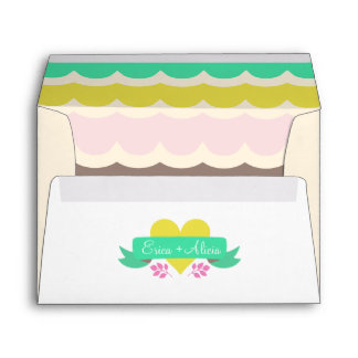 Bright Fairytale Wedding Envelope