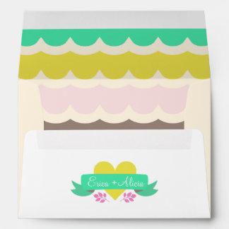 Bright Fairytale Wedding Envelope