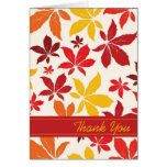 Bright Fall Leaves Bridesmaid Thank You Note Card