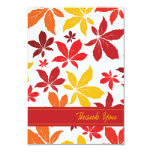 Bright Fall Leaves Wedding Thank You Notes - Flat Card