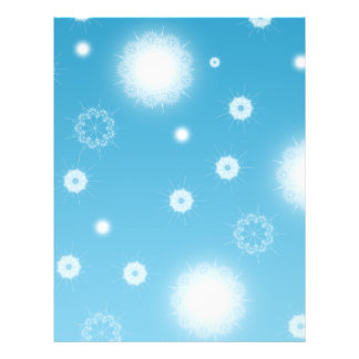 Bright Falling Snowflakes Flyer