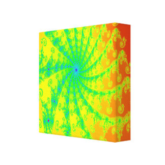 Bright Fancy Fractal Wrapped Canvas