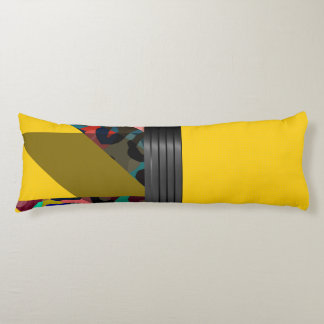 Bright Fancy Yellow Rainbow Cheetah Body Pillow