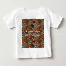 Bright Festive Marble Pattern Baby T-Shirt