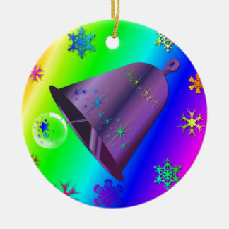 Bright & festive Rainbow Decoration Ceramic Ornament