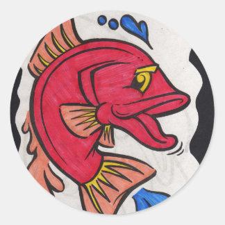bright fish (kkincade12 classic round sticker