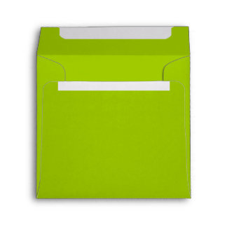 Bright Flashy Lime Green Envelope