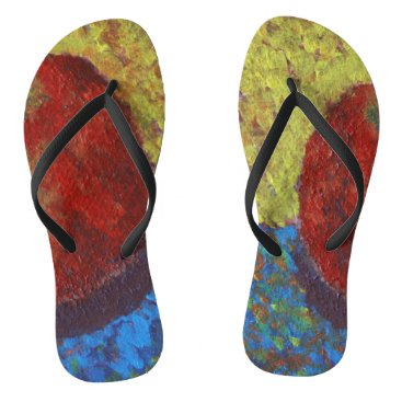 Beach Themed Bright Flip Flops