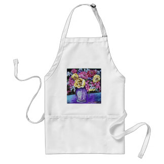 bright floral adult apron