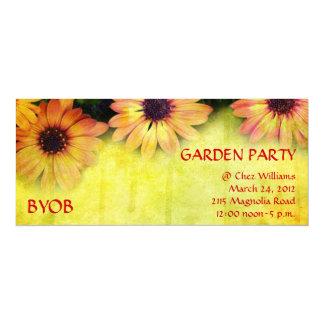 Bright floral design invitation