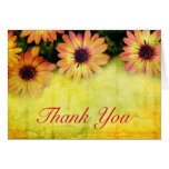 Bright floral design thank you card
