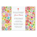 Bright Floral First Communion Personalized Invites