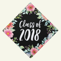 Bright Floral | Graduation Cap Topper