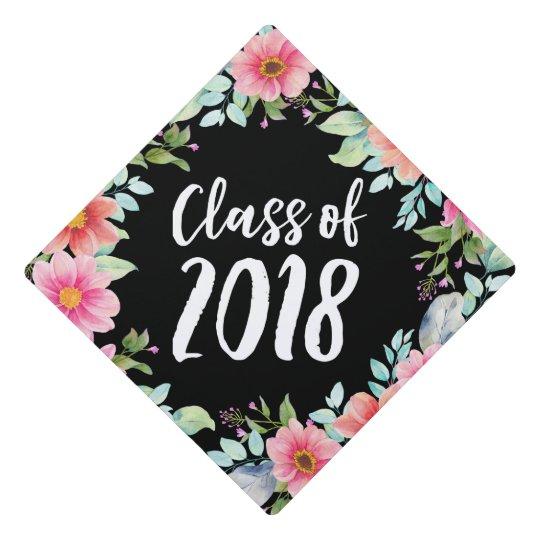 bright floral graduation cap topper zazzle com
