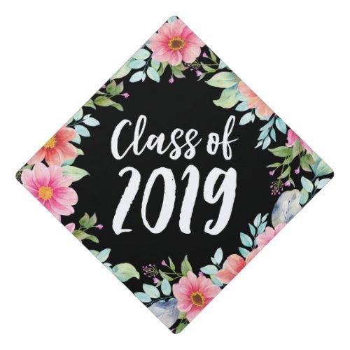 Bright Floral  Graduation Cap Topper