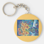 BRIGHT FLORAL KEYCHAINS