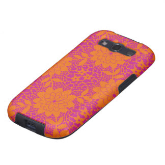 bright floral lattice damask galaxy s3 cases