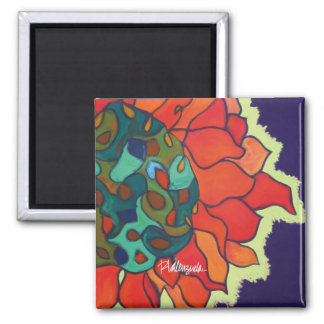 Bright Floral Magnet