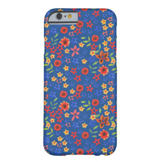 Bright Floral Miniprint on Blue iPhone 6 Case