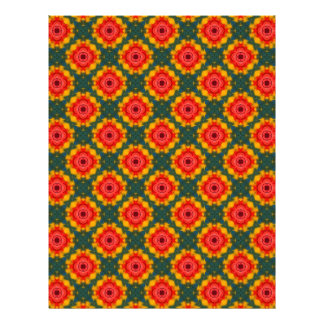 Bright Floral Pattern Background Letterhead