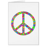 Bright Floral Peace Card
