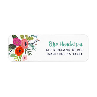Bright Floral Personalized Return Address Labels