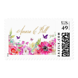 Bright Floral Personalized Stamp