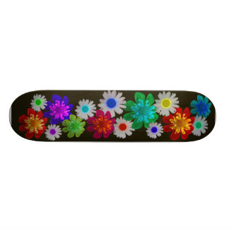 Bright Floral Skateboard Deck