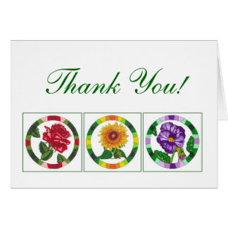 Bright Floral Thank You Note Cards