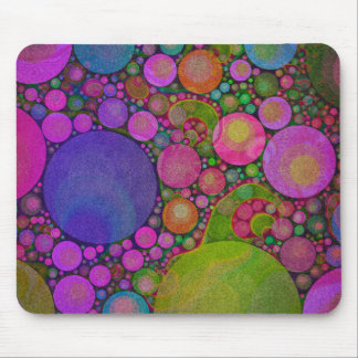 Bright Florescent Color Abstract Mousepad