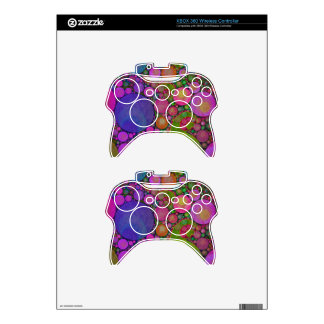 Bright Florescent Color Abstract Xbox 360 Controller Skin