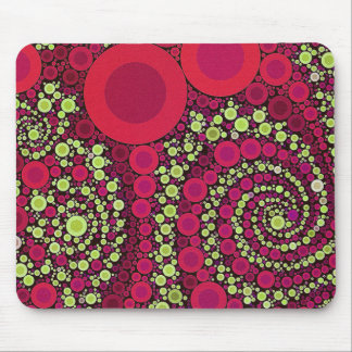 Bright Florescent Crazy Abstract Mouse Pads